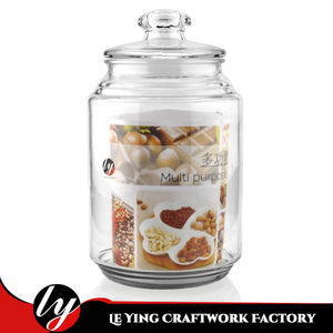2500ML Large Storage Food Container Candy Honey Glass Jar