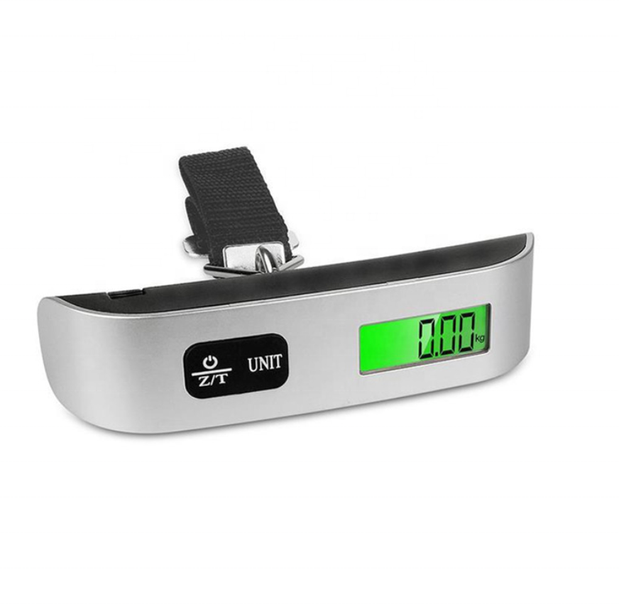 Hot Popular 50KG Digital Portable Travel hanging Luggage Scale with temperature function PT-106