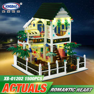 XingBao 01202 New Romantic Coração Conjunto com Luz 1500 Pcs USB Building Block Bricks Educacional DIY Toy como Dos Namorados presente do dia