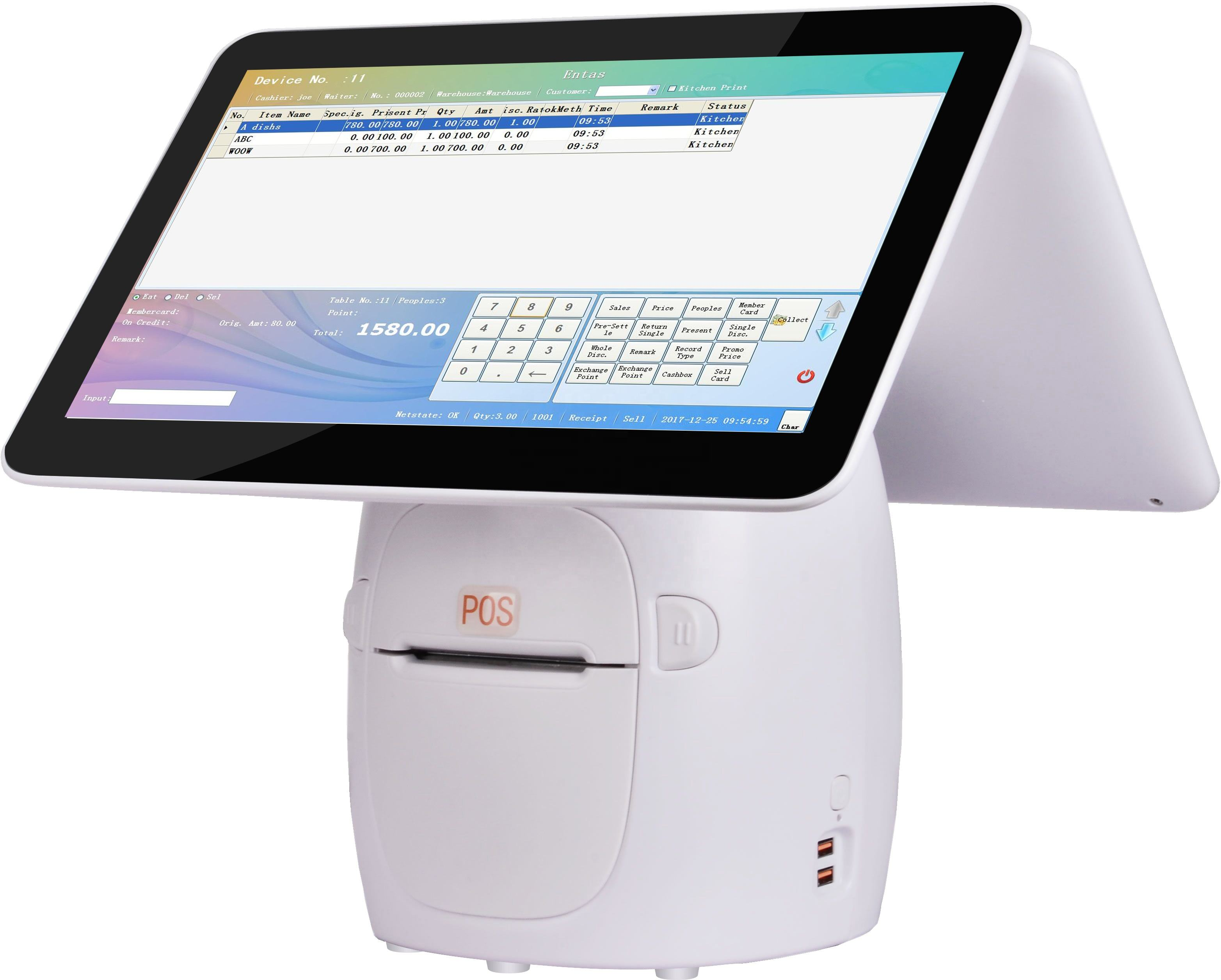 POS machine Android True Flat Touch Screen Senraise A1 15.6 inch All In One POS Terminal