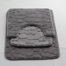 High quality microfiber woven bathroom mat sets