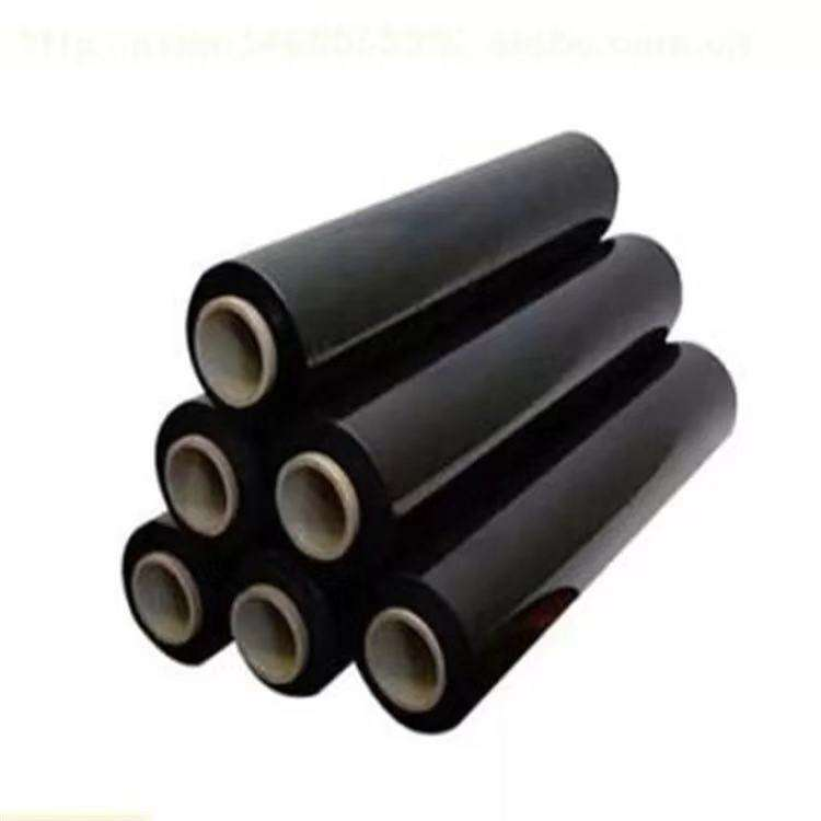 High quality black stretch film pallet shrink wrap/wrapping plastic film