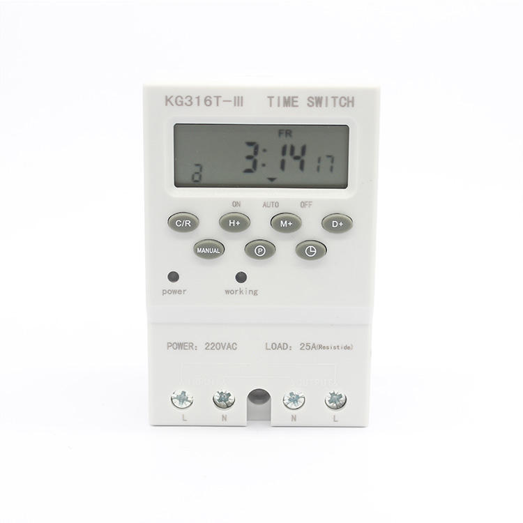 JISHI Din rail daily programmable electric automatic time switch power supply timer