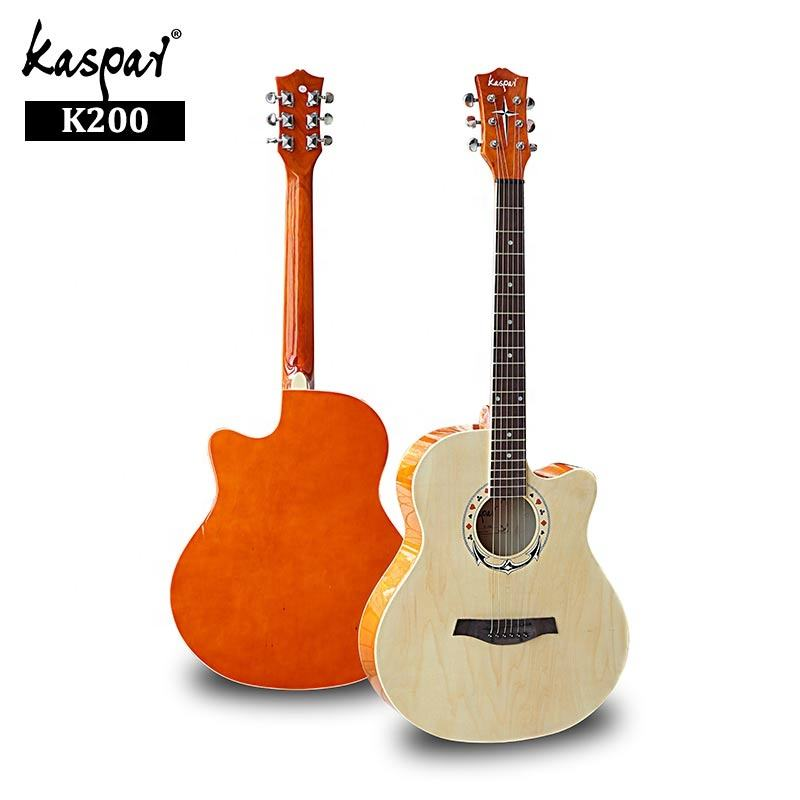 "Custom with Your Brand Best Thin Body DIY Guitar with Pickup 40"" Travel Acoustic Guitar"