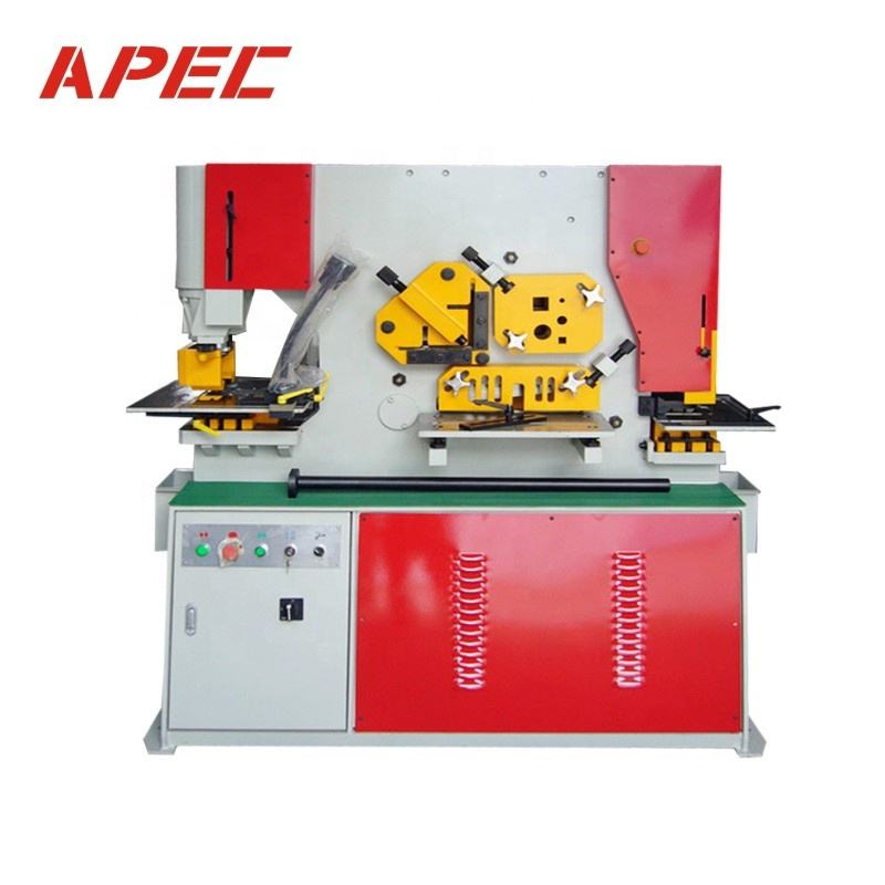 APEC hydraulic metal puncher&cutter Q35Y-16 hydraulic iron worker , combined punching and shearing machine