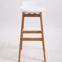 modern bar stool chair with wooden legs for home & kitchen