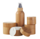In stock low MOQ 100g 150g 200g echo friendly inner PP bamboo cosmetic cream jar wooden jar