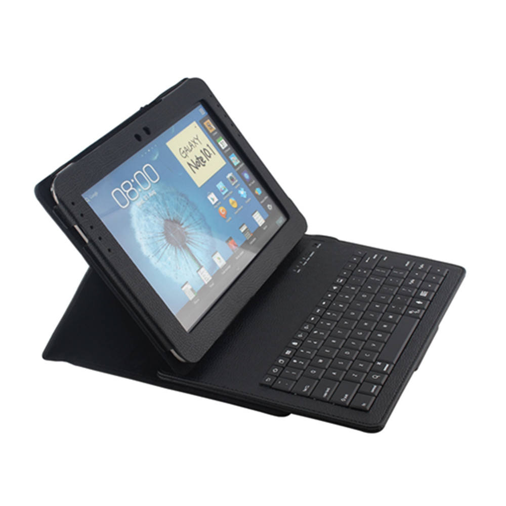 3.0 Blue Tooth Siliconen Tablet Keyboard Leather Case voor Samsung note10.1inch N8000