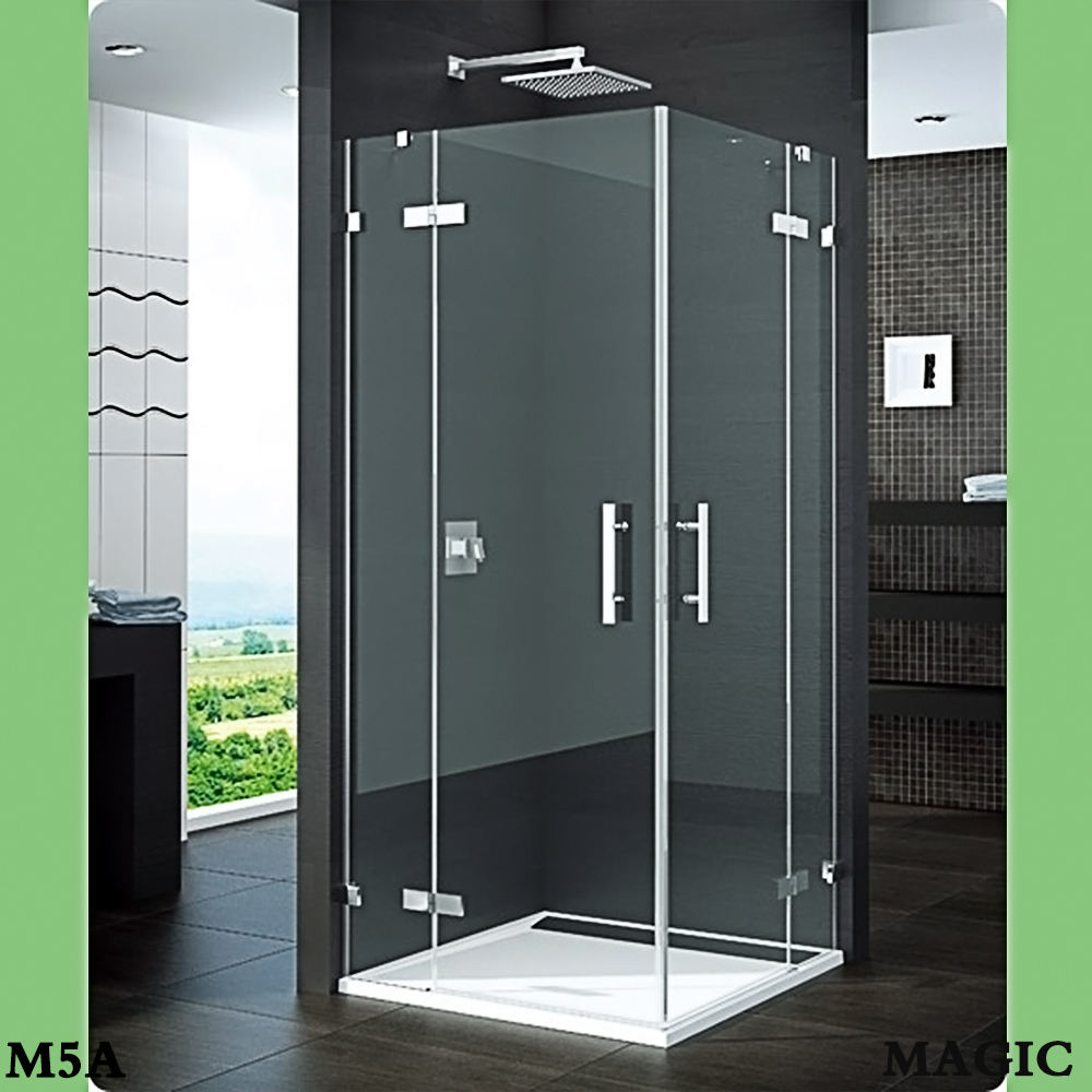 Direct Factory,beautiful design,square,frameless,double swing doors open style shower enclosure