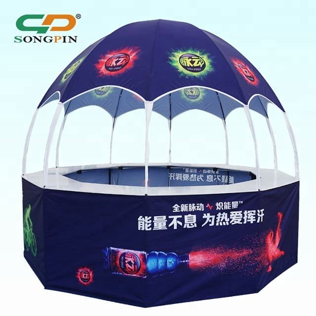 New Big Outdoor Easy Up 10x10ft Folding Gazebo Price Custom Logo Printing Portable 10 Side Booth Kiosk Pavilion Dome Canopy Tent