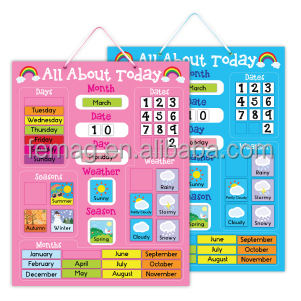 E1004 2015 new learning english conversation magnetic calendar and wealther chart