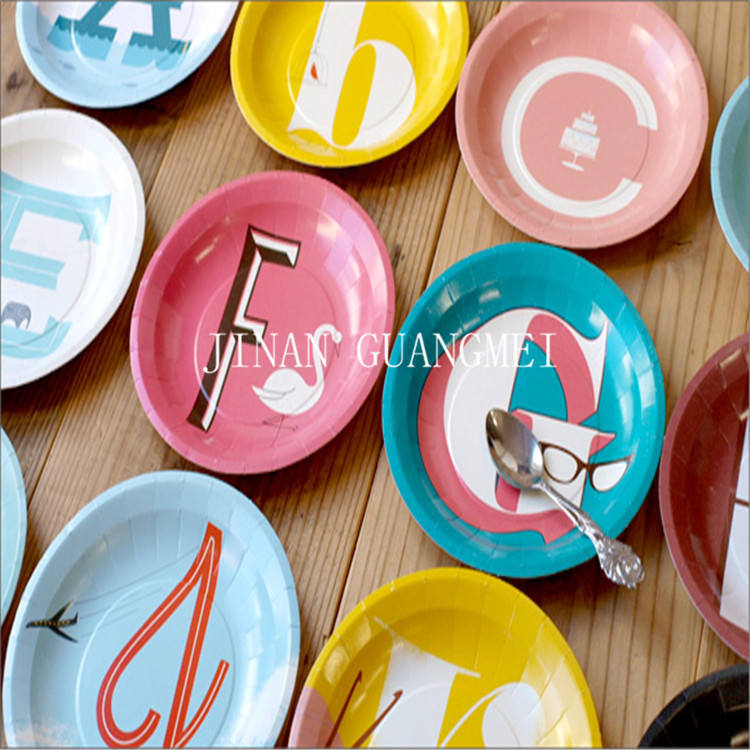 High quality custom design disposable Lovely paper plate