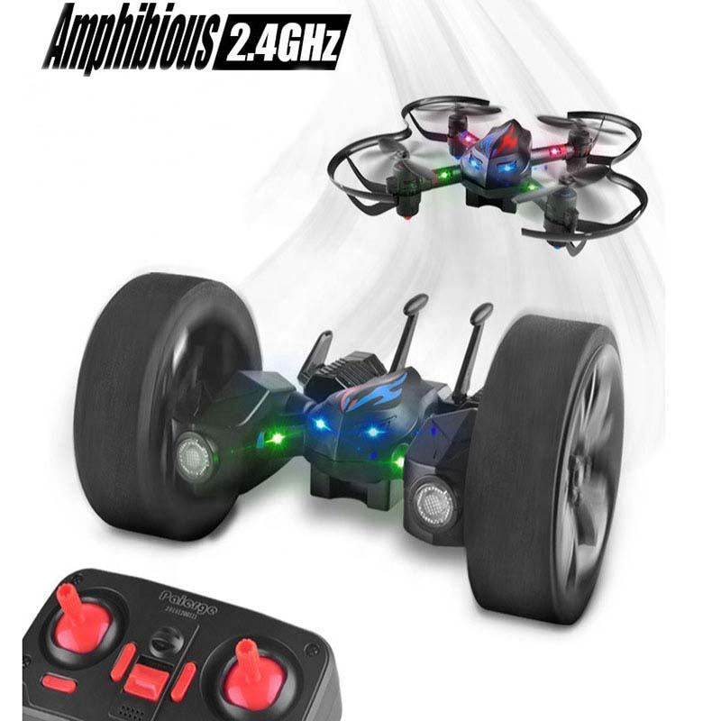 2.4G RC Car Flying Quadcopter Drone Remote Control Toyと2で1 Air-Road 6-Axis Gyro Headless Model One Key Return Rotation