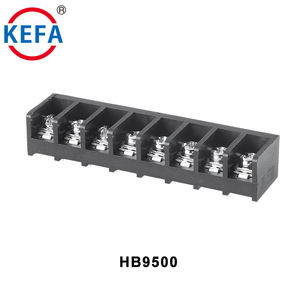 HB9500 9.5mm pitch pcb terminal block 300 V/20A 18-10AWG