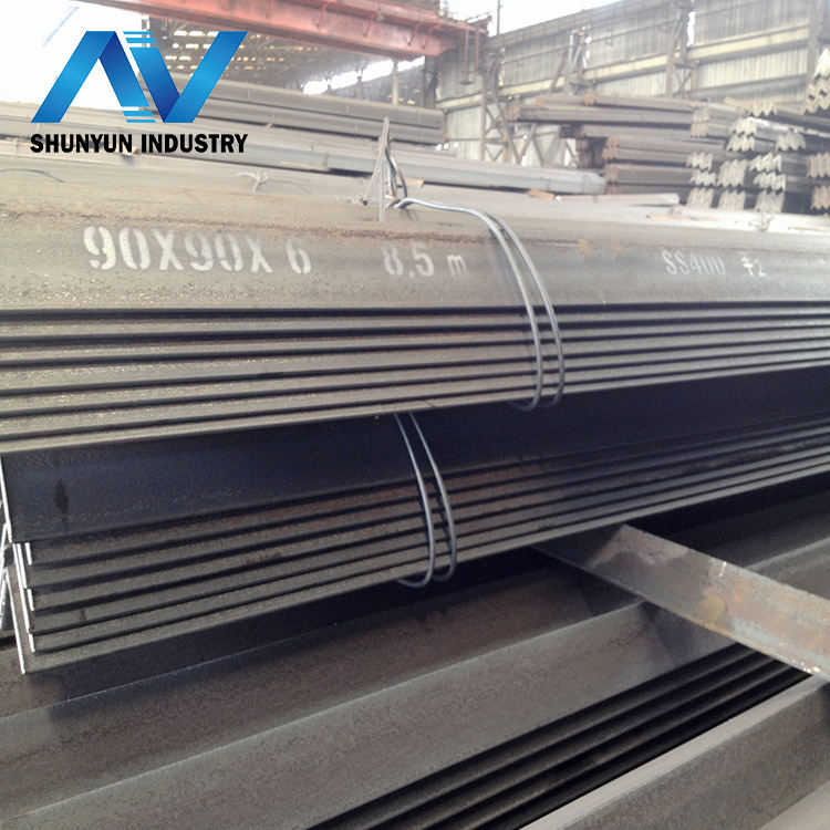 steel angle standard sizes with grade EN S235JR S355JR hot rolled angle steel for project material made in china