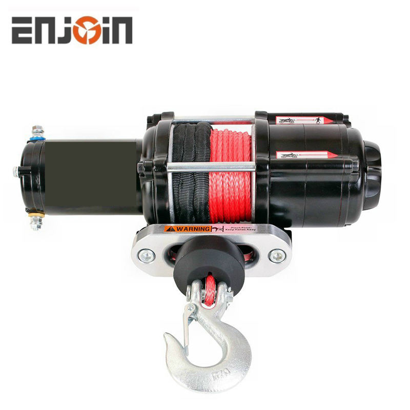 ENJOIN Electric Winch 5000LB 12v With Model Specifc Mount Fits 14-19 POLARIS RZR/RZR 4/GENERAL 900/1000/TURBO RXR RAZOR