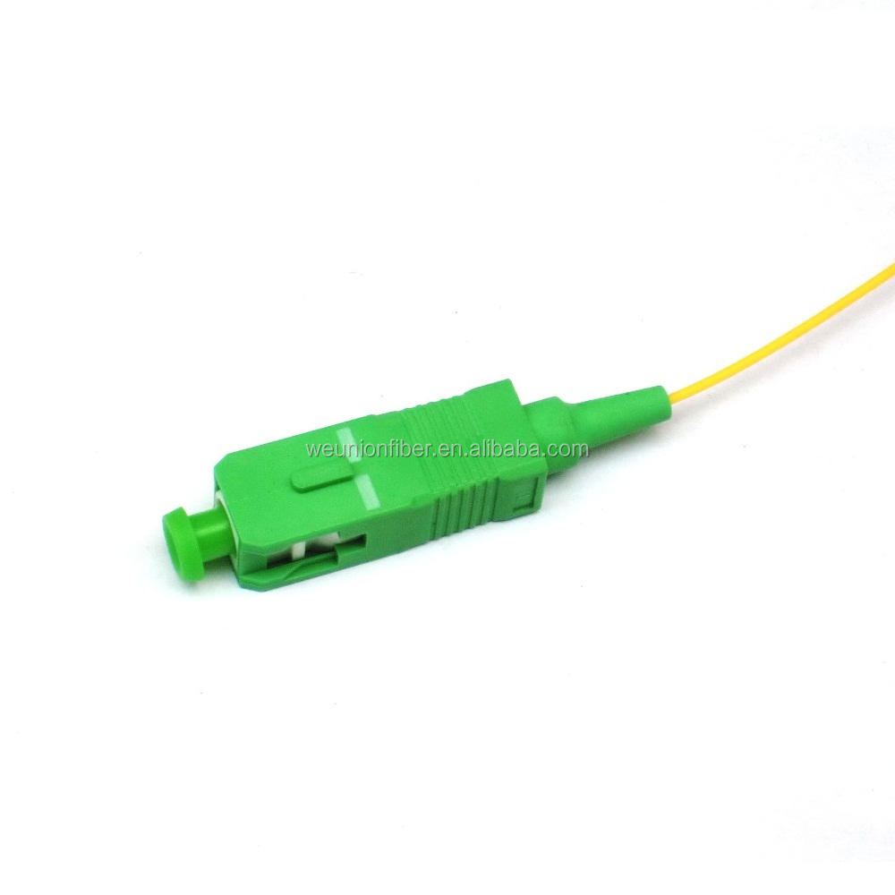 unionfiber oem/odm 0.9mm 1/1.5 meter FTTH sc-upc optique prix yellow SC/APC sinle core sm G.652d core fiber optic pigtail