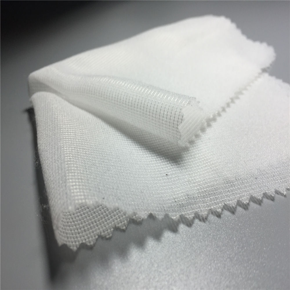 40gsm of woven fusible interlining interfacing fabric for garment by warp knitting machine