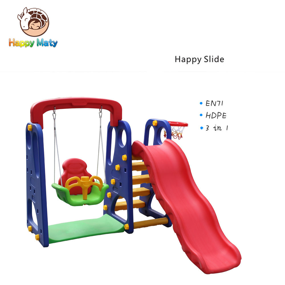 outdoor playground high quality colourful indoor playground toy kids kindergarten children game park plasticswing with slider