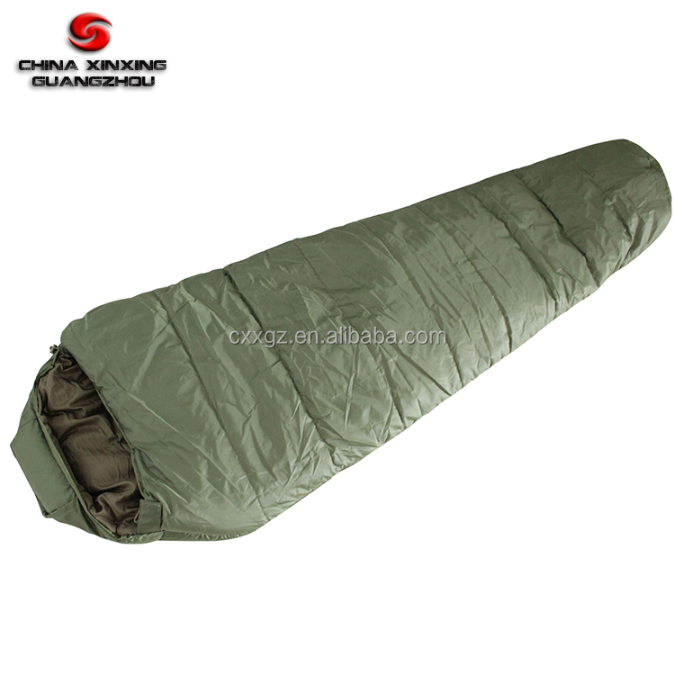 Waterproof Lightweight Military camping hiking mummy sleeping bag with CERTIFICATE