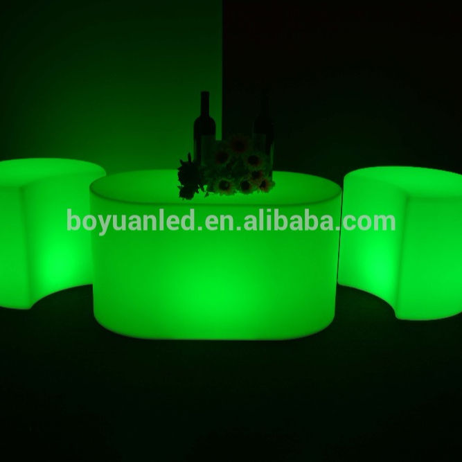 Modern recargable LED luminoso Night Club juego de mesa, mesa de té llevado