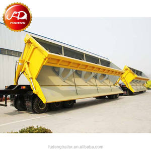 Chinese side dump trailer side tipper trailers tri axle tipper trailer