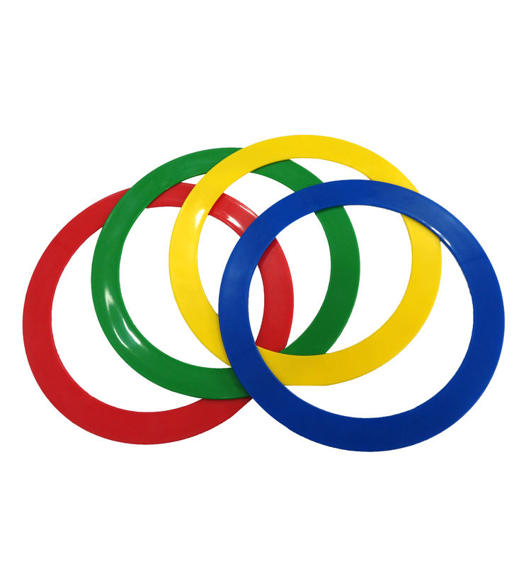Colorful Plastic Flat hula ring Juggling Rings Field Mark Ring for Sports Game Fun