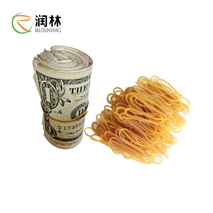 Natural color Elastic Rubber Band for money