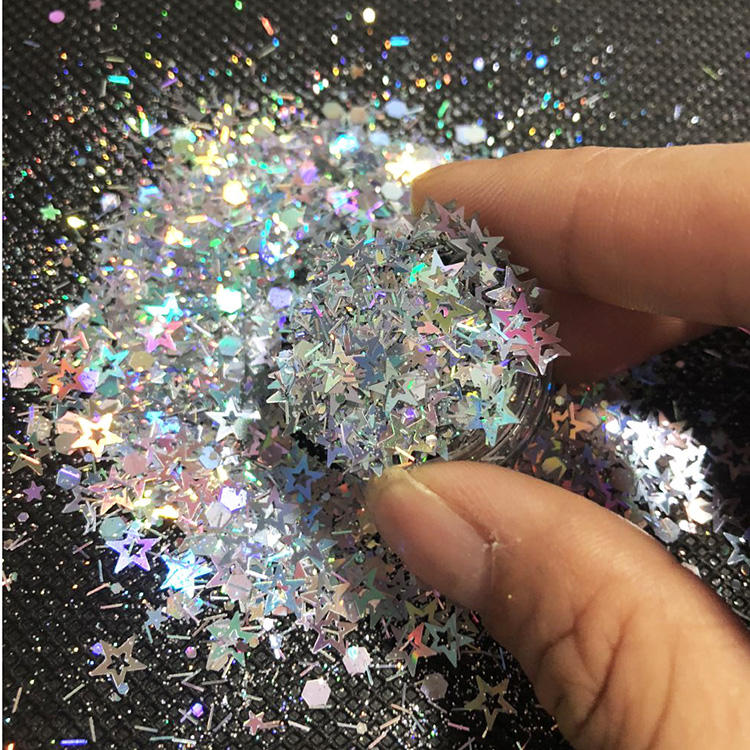 China Crafts Holographic chunky glitter for Nail Face Eye Shadow Tattoo Festival Body Dance Party