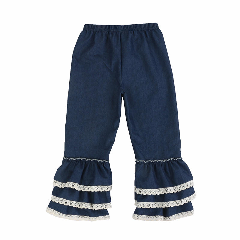 Denim Filles Volants Pantalon
