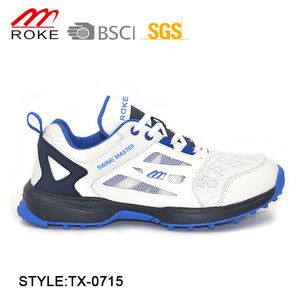 New design Outdoor Cricket Shoe PU Mesh Cricket Sport Shoes For Men