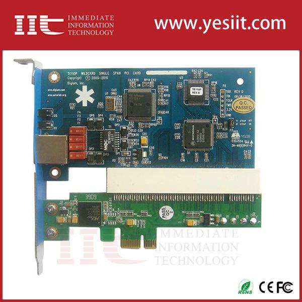 Один порт E1 / T1 / J1 PCI-E интерфейс звездочка карты ISDN PRI для voip ippbx Elastix FreePBX система Digium Openvox D110P sangoma