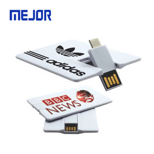 2 millimetri a forma di Carta di Credito pendrive 16GB i-facile da usare 2 in 1 di affari flash disk 2.0 micro carta di OTG usb