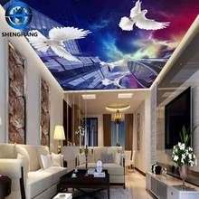 Luxury 3d wallpaper for ceiling wall decor hotel /home sitting room ceiling wallpaper Non-woven Wallpaper
