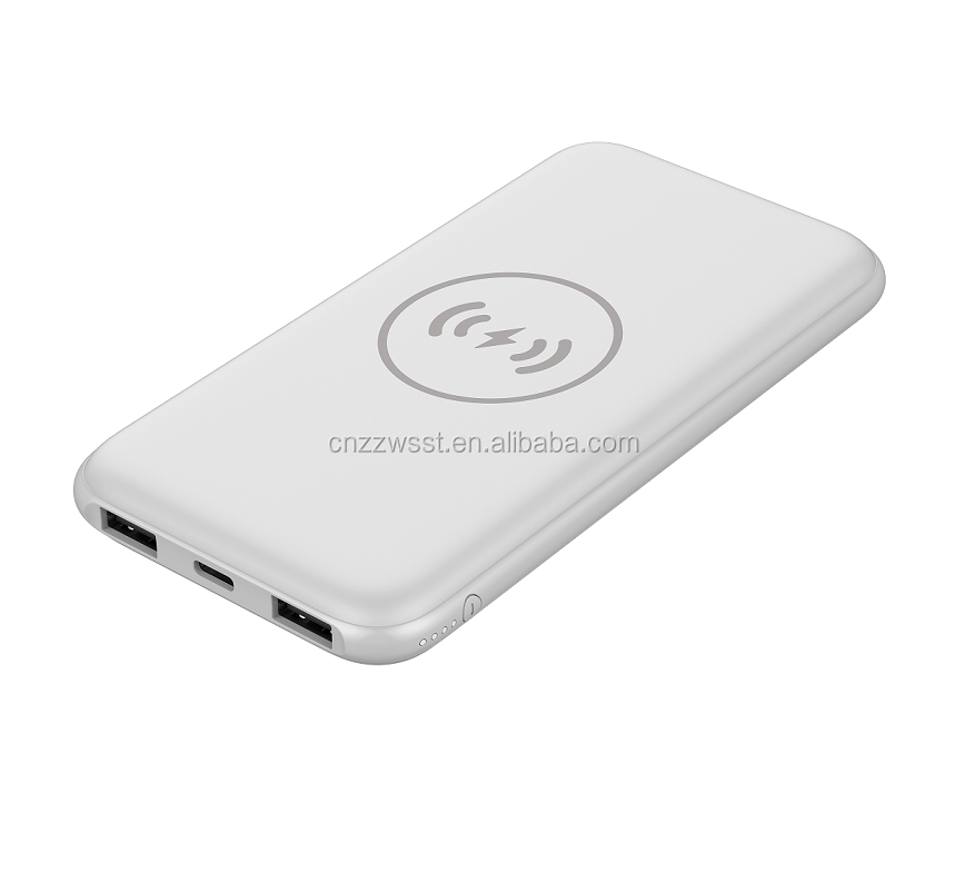 100% Original Power Bank 10000mAh Wireless Quick Charger Battery Portable Power bank For Iphone