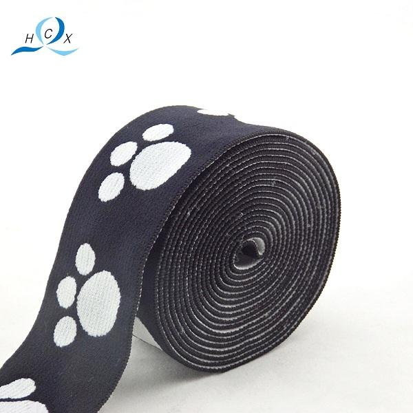 China Supplier Good Quality Colored Flat Woven Elastic Tape Jacquard Ribbon