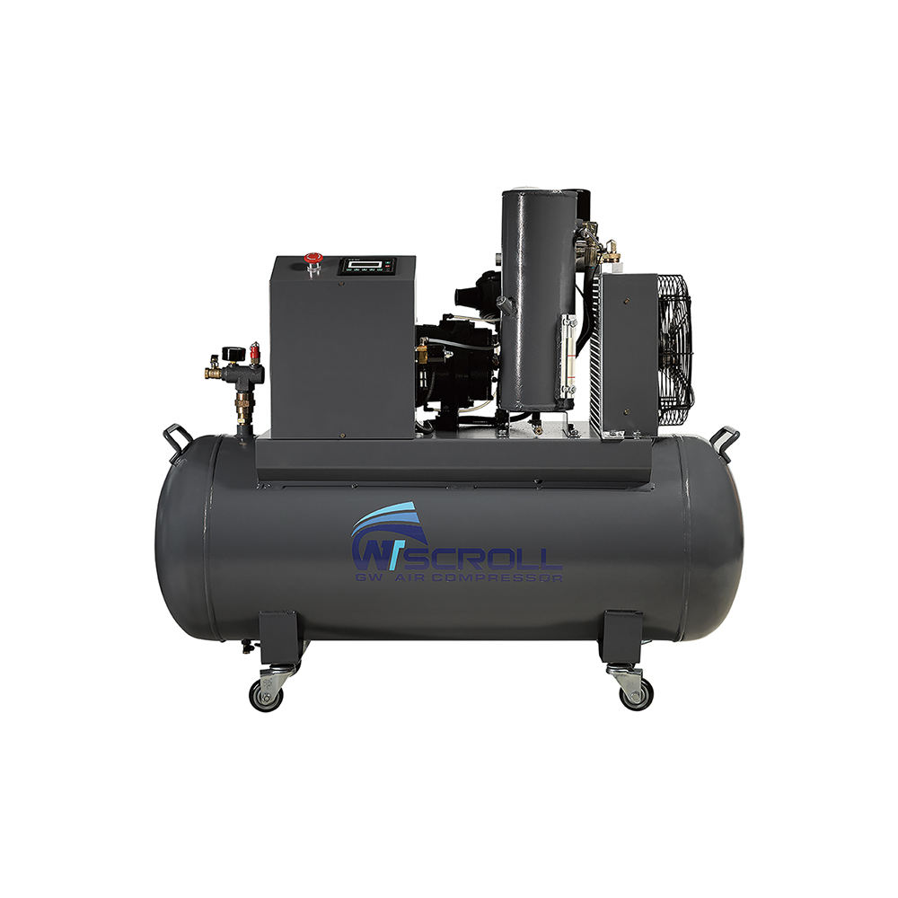60Hz 2.6kw 11kw horizontale air scroll compressor