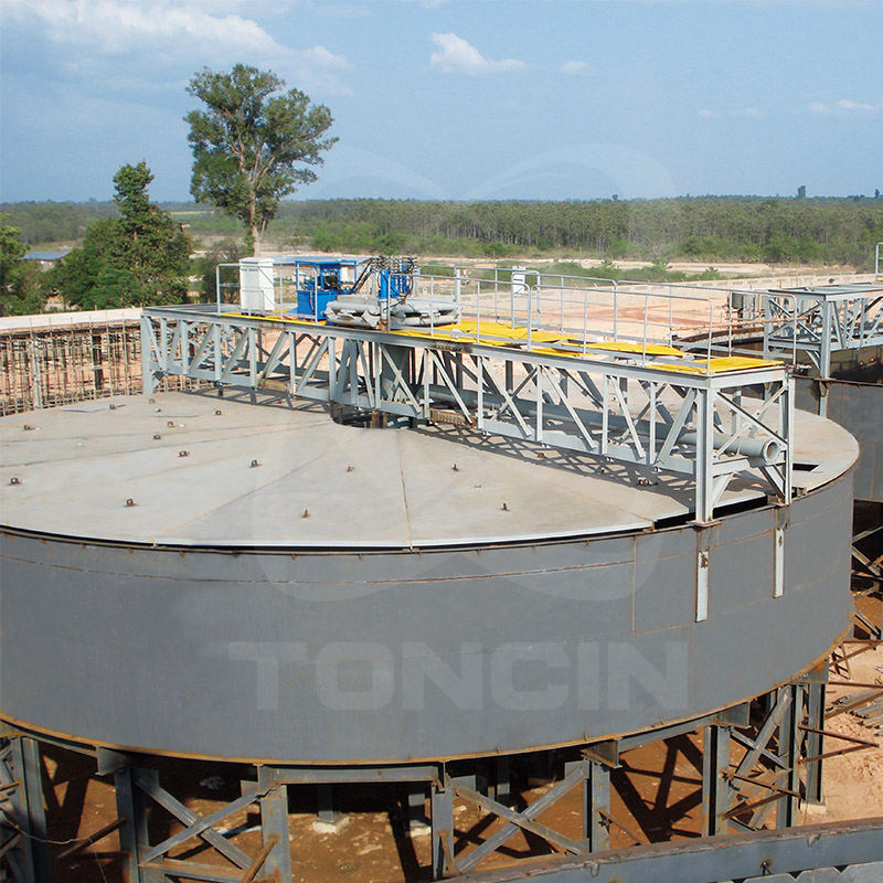 High efficiency tailing mining dewatering concentrate thickener