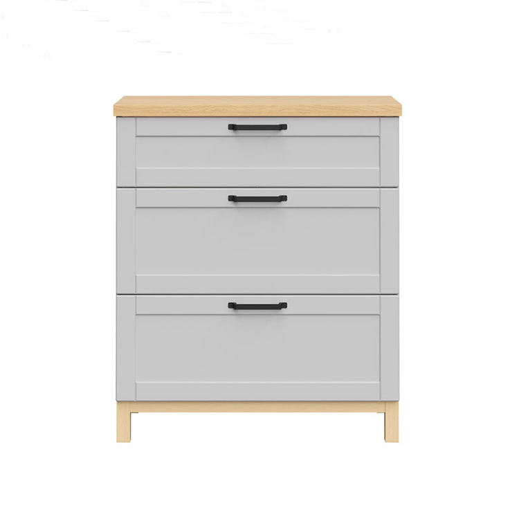 Promotion cheap white solid wood wall drawer cabinet