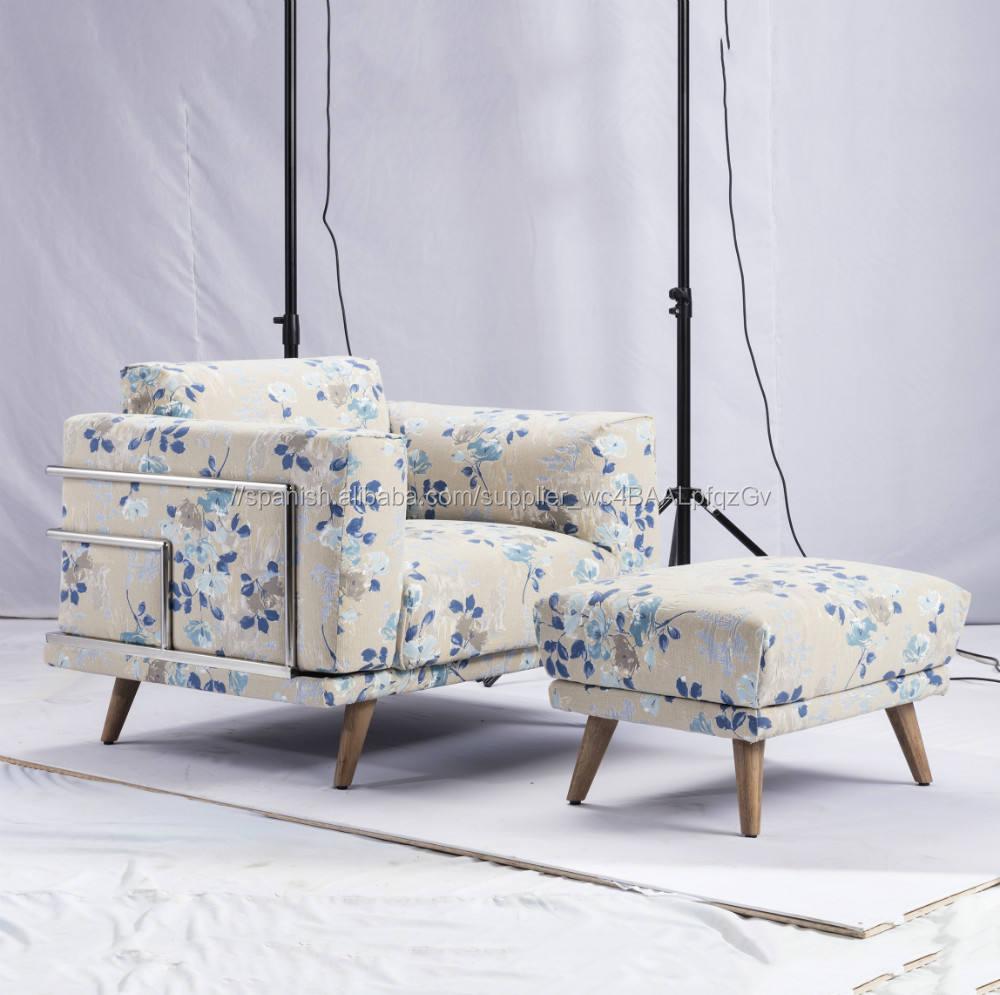 2018 estilo de moda muebles de sala de estar perezoso solo sofá silla