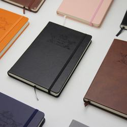 custom printed A5 size hardcover pu leather notebook