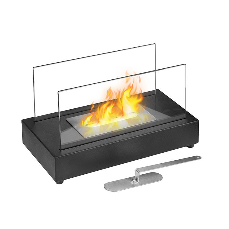 Factory direct wholesale decor flame table bio ethanol fireplace