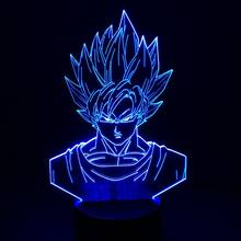 dragon ball Optical Illusion Visualled 3D Lamp with remote control For deco, with dragon ball shaped for kids gift