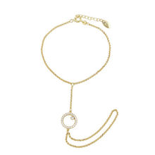 74262 Xuping rings latest designed fashion Saudi Arabia gold plated gold hand chain fashion design bracelet