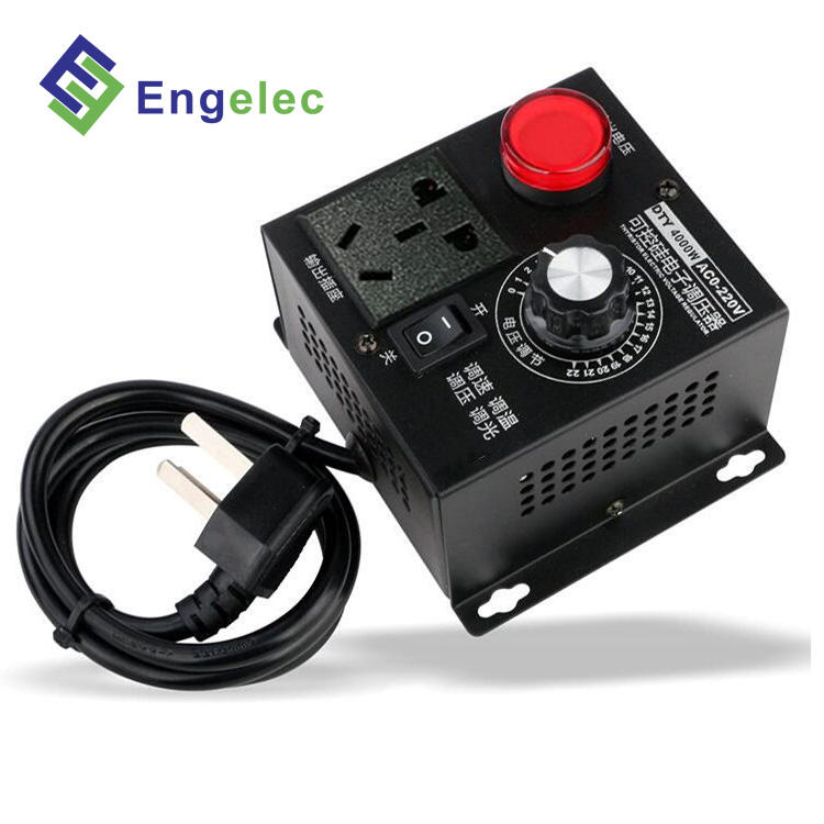 Thyristor Elektronik Regulator Tegangan 4000 W AC220V Input 0-220 V Output 12 Volt 5 Amp Voltage Regulator