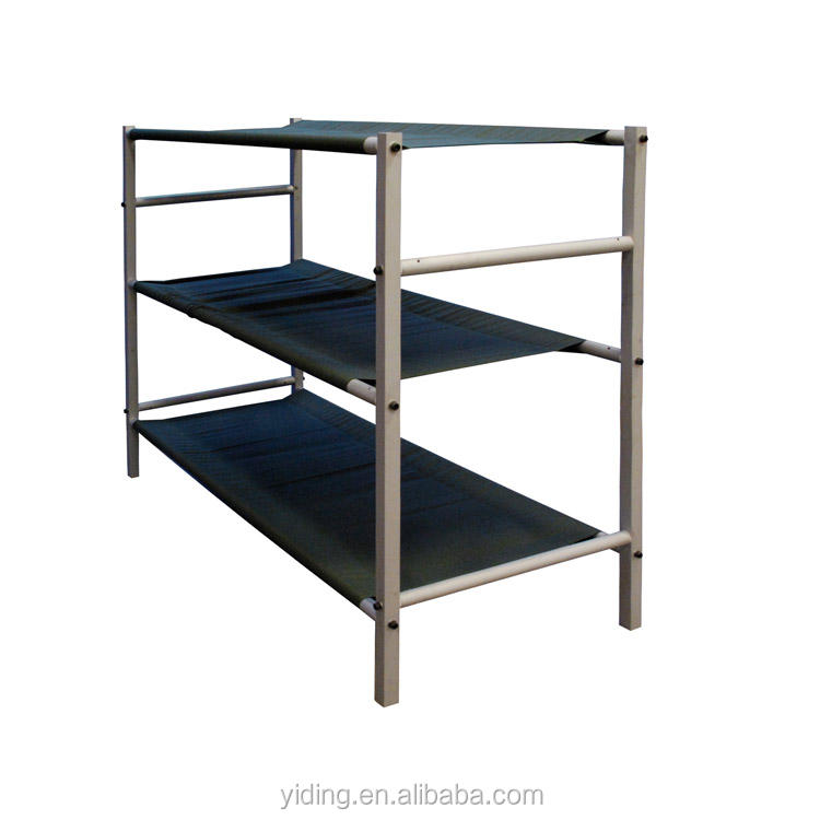 Outdoor Draagbare <span class=keywords><strong>Metalen</strong></span> Vouwen Camping Bed 2 Of 3 Laag Stapelbed Bed Babybedjes