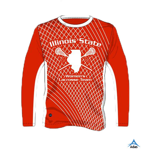 Custom long sleeves lacrosse jersey