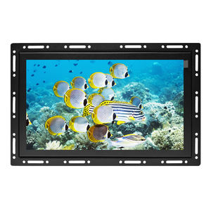 7 8 9 10 12 13 14 15 17 19 22 12 inch advertising 4-wire RS232 or USB open frame monitor with VGA AV HDMI TOUCH OPTIONAL
