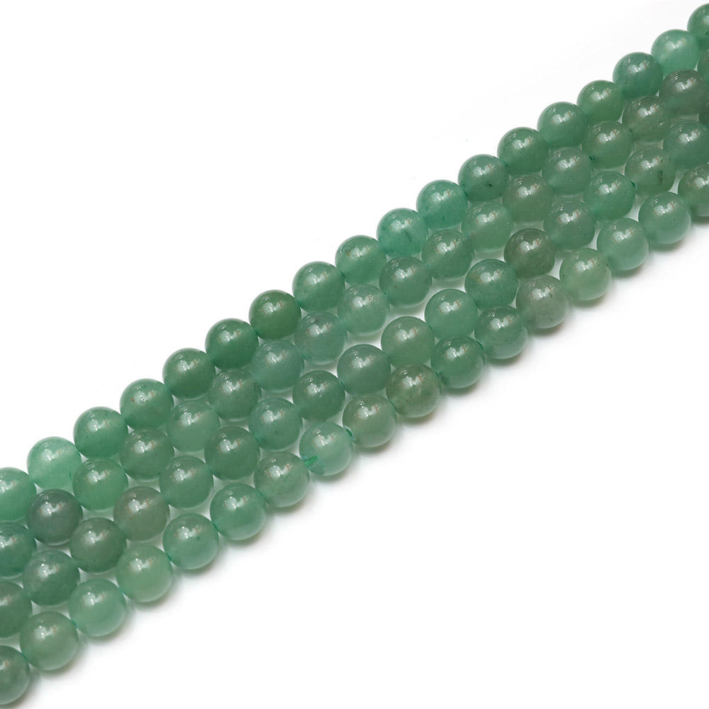 Jewelry Fine China Natural Stone Semi Precious Stone 4mm 6mm 8 Mm 10 Mm 12 Mm Facet Green Aventurine Loose Beads