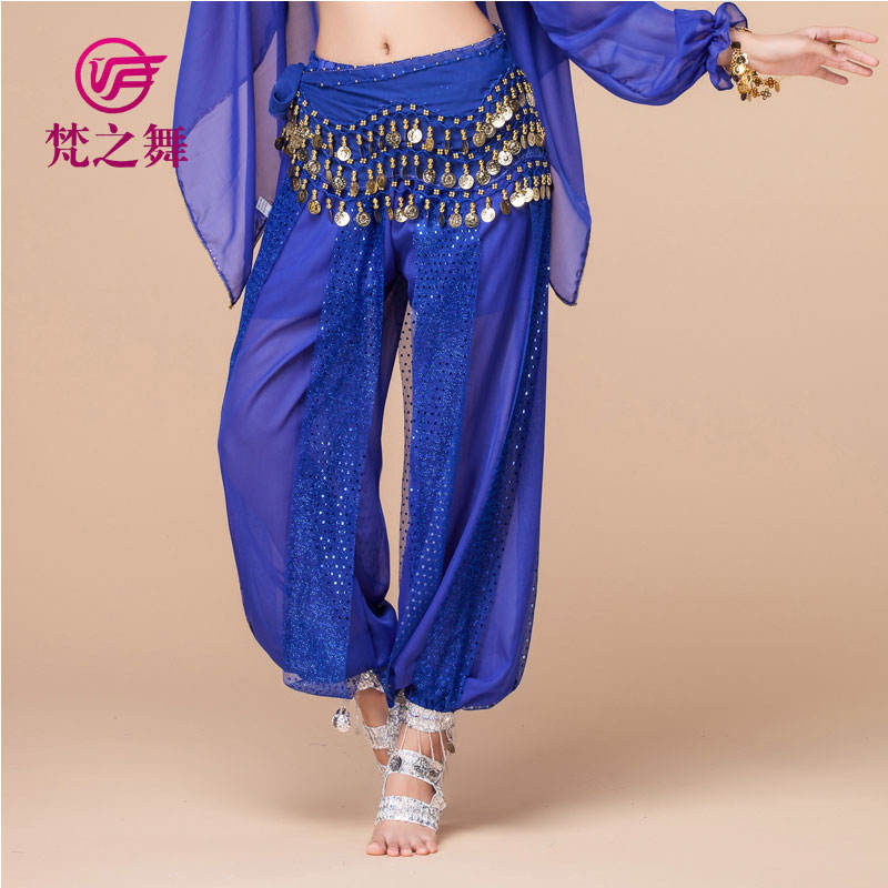 K-4001 Hot products glitter chiffon tribal belly dance costume harem pants